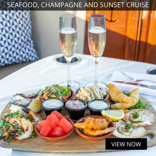 seafood champagne sunset cruise