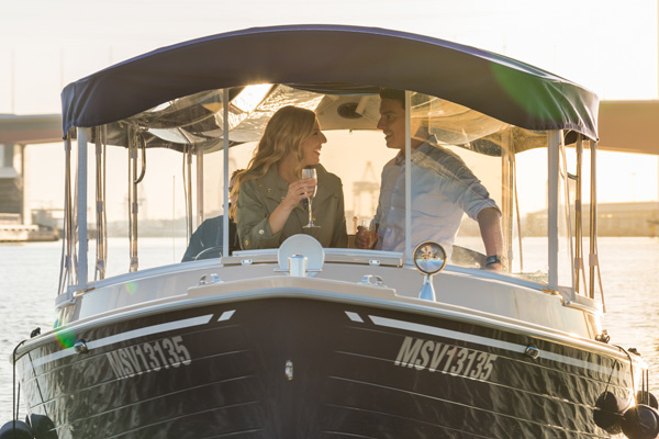 something different for proposing- a skippered cruise on the Yarra River