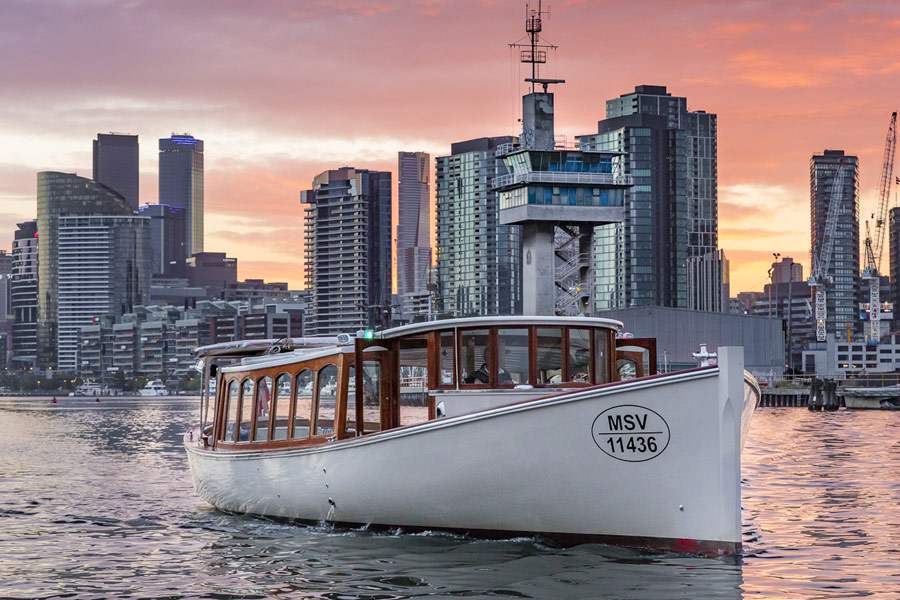 skippered private boat tours in Melbourne Docklands