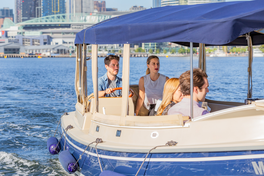 self-drive electric boats for hire