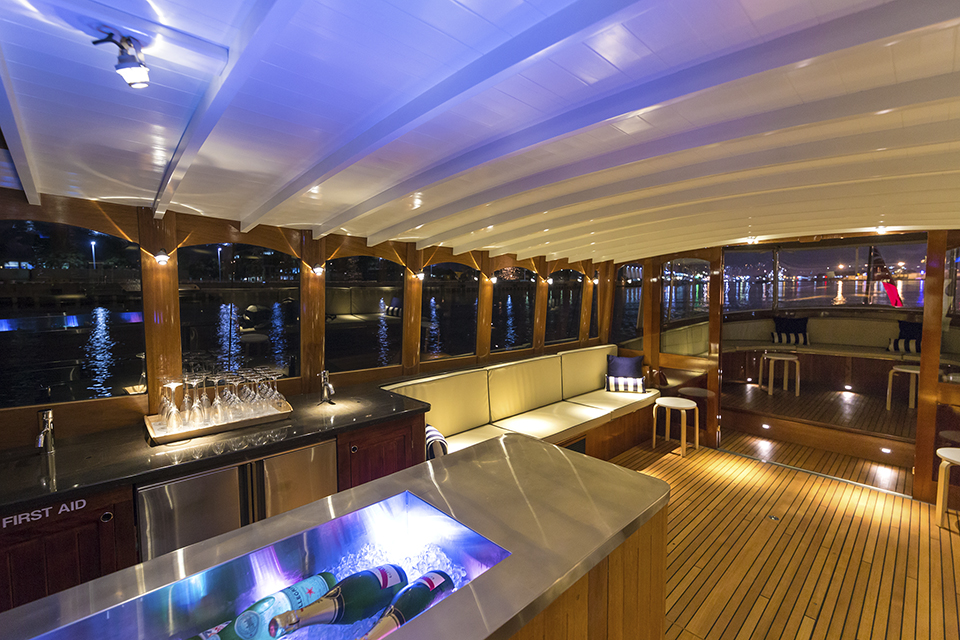 corporate function boats for hire