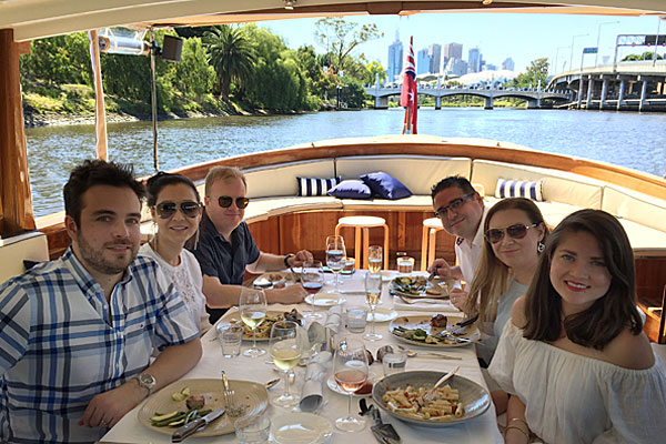 progressive dinner cruises yarra river docklands