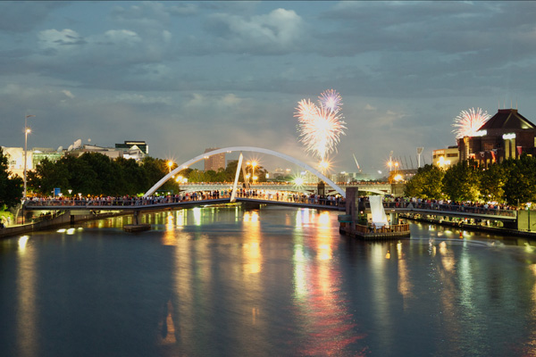 private boat cruises to see new years fireworks in Melbourne