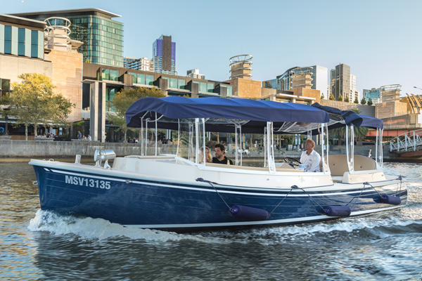 cruise the Yarra River with your own skipper who will be your guide