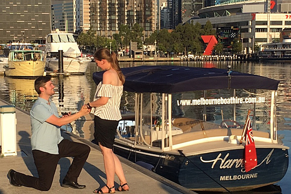 propose on the yarra river- with a private boat cruise